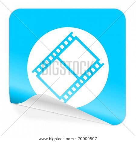 film blue sticker icon