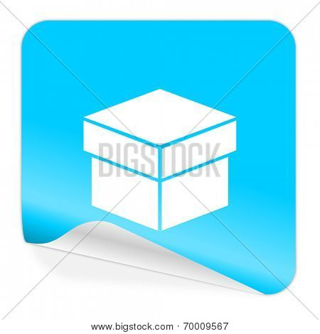 box blue sticker icon