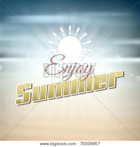 Abstract background with enjoy summer typography