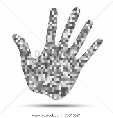 Hand Print Pixel Texture