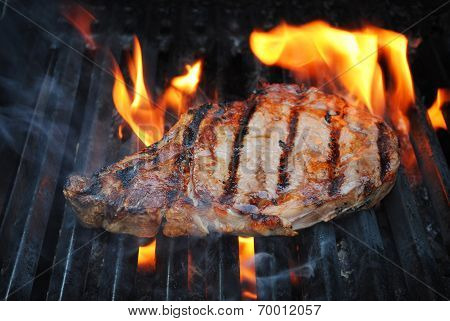 Flame Grilling A Lean Beef Steak