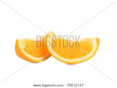 Two slices of orange.