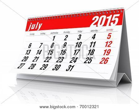 July 2015 - Calendar