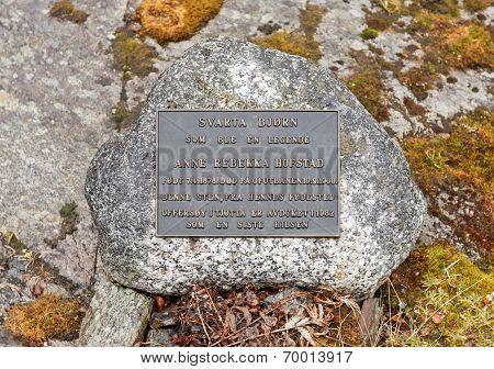 BJORKLIDEN, SWEDEN ON JUNE 13. Memorial at the Cemetery on June 13, 2010 in Bjorkliden, Sweden.