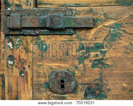 Old lock on old door