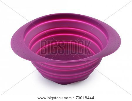 plastic bowl, isolated on white