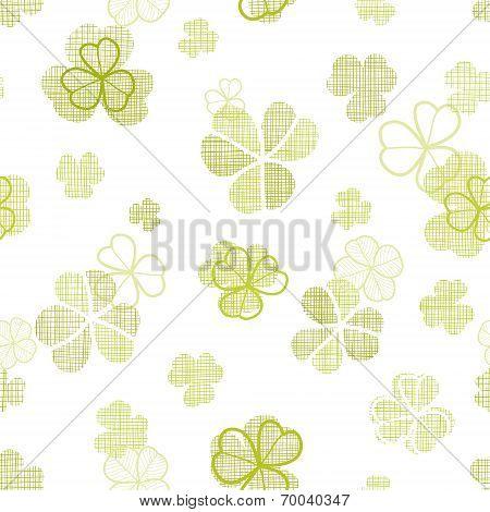 clover textile textured line art seamless pattern background