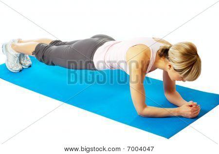 Sportswoman Practicing Yoga