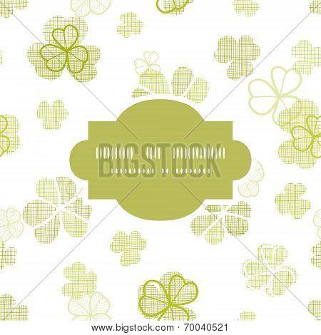 clover textile textured line art frame seamless pattern background