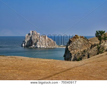 Nature Of Lake Baikal. Cape Burkhan - Shaman Rock