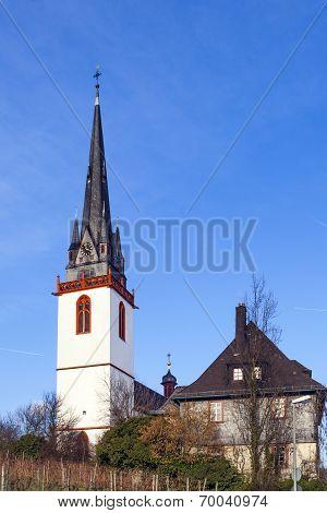 Tower Of St. Martin Church In Eltville Erbach