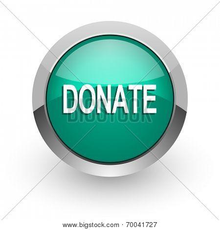 donate green glossy web icon