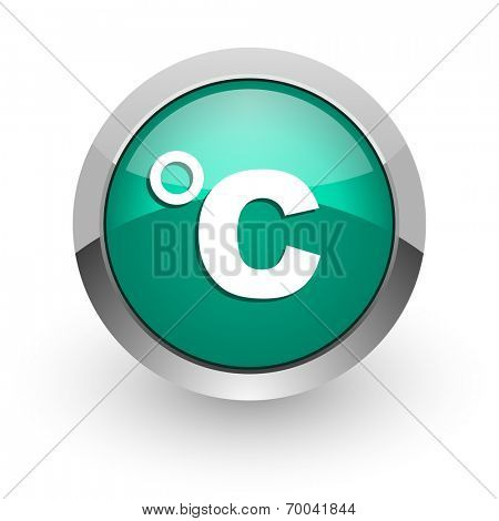 celsius green glossy web icon