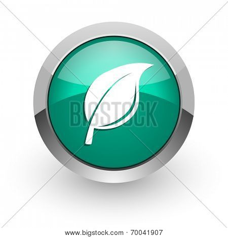 nature green glossy web icon