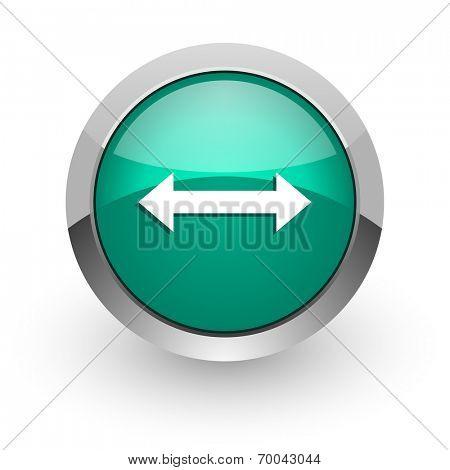 arrow green glossy web icon