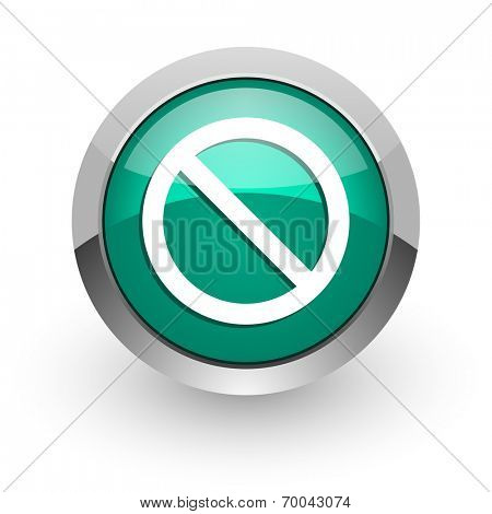access denied green glossy web icon