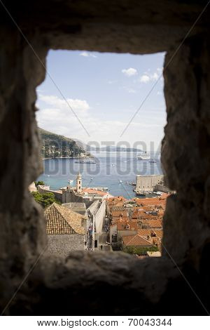 Dubrovnik view with frame