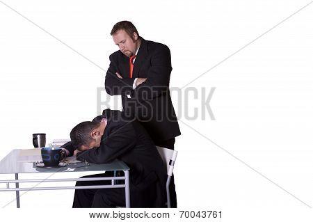 Businessmen Caught Sleeping