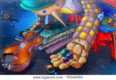 Street art Pinocchio