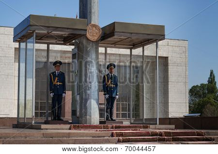 Two Guards Soldiers On Ala-too Square