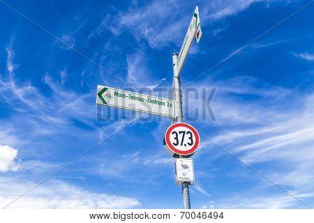 Street Sign For Nandus Under Blue Sky