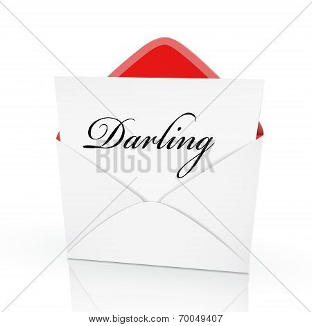 The Word Darling On A Card