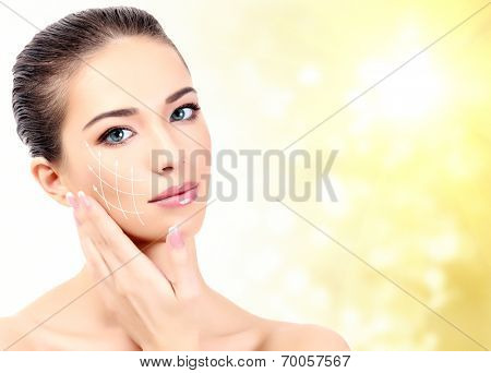 Pretty woman. Antiaging concept.