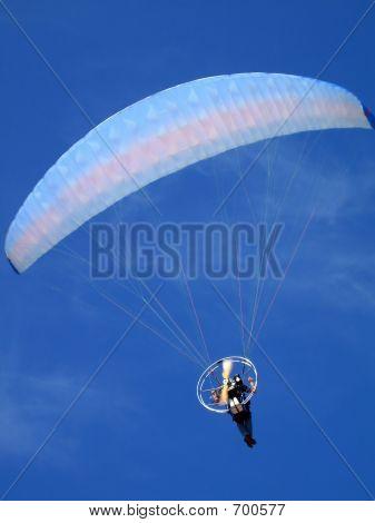 Para-glider Over Blue Sky