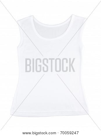 Casual white singlet