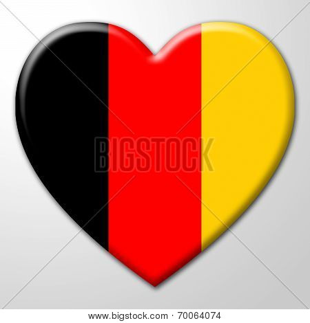 Germany Heart Indicates Valentines Day And Affection
