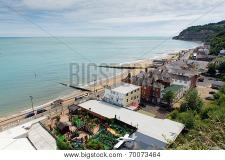Isle of Wight Shanklin popular tourist and holiday location east coast
