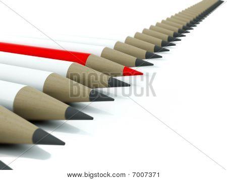 Row of pensils