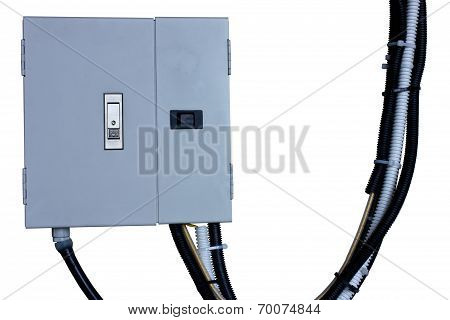 Electric System In Cabinet  Building System Isolate Blackground