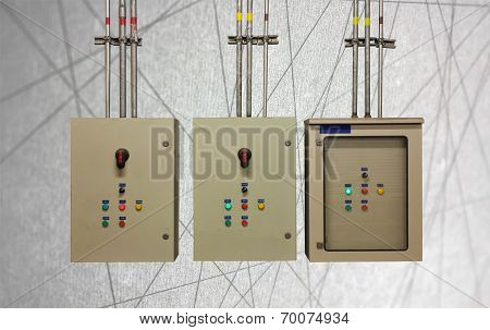 Electric System In Cabinet  Building System Abstract Line Background