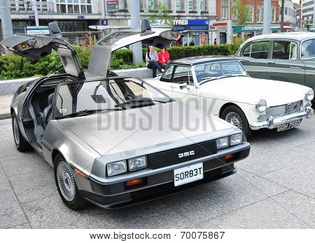 DeLorean vintage car