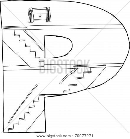 P With Staircases
