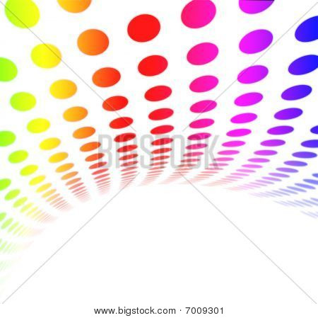 Colorful extra large format for modern dot background design showing movement and speed. poster