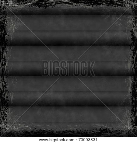 Black, Dark, Gray Grunge Background. Old Abstract Vintage Texture With Frame And Border.