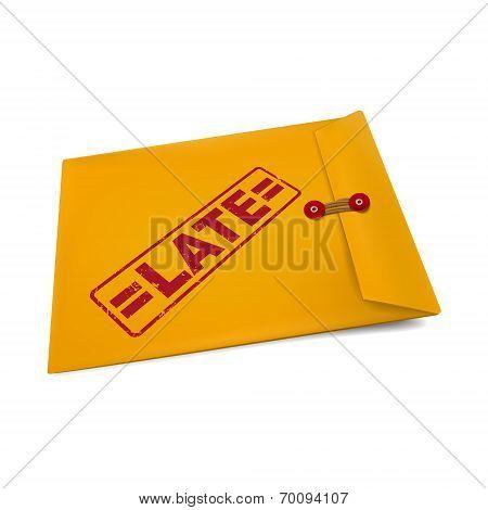 Late Stamp On Manila Envelope