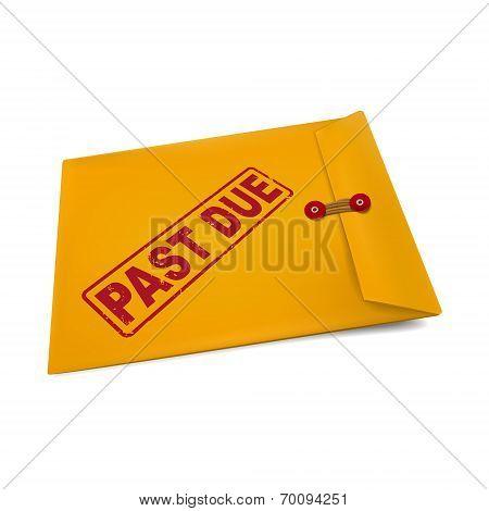 Past Due Stamp On Manila Envelope