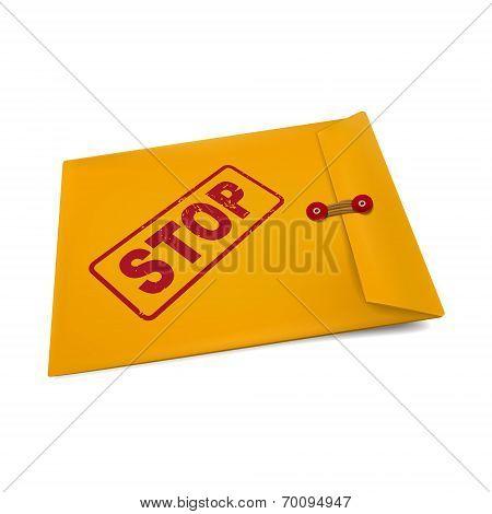 Stop On Manila Envelope