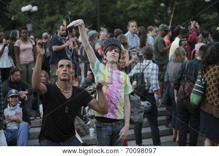 Dancers in Union Square at Vigil