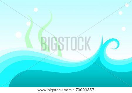Under water scene vector