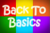 Back To Basics Concept text lesson memo poster