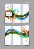 Tv television news tri-fold design brochure template poster