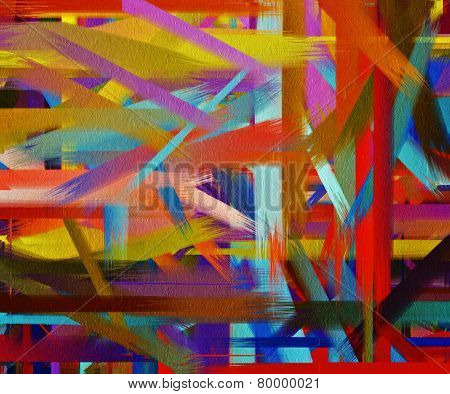 Paint Color Brush Stroke Texture Background