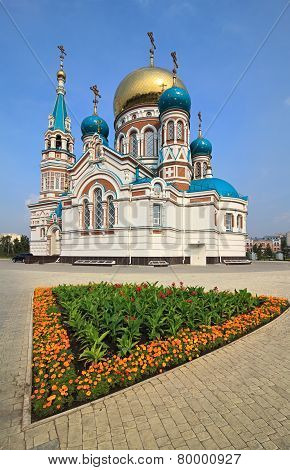 Uspensky Cathedral. Omsk. Russia.
