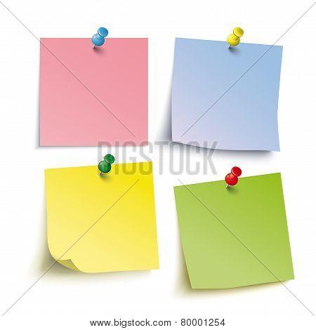 4 Colored Sticks 4 Pins