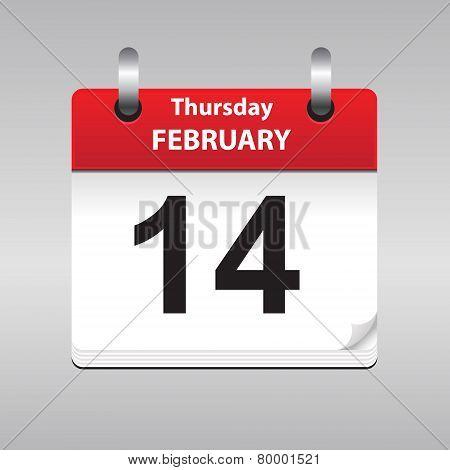 vector calendar page