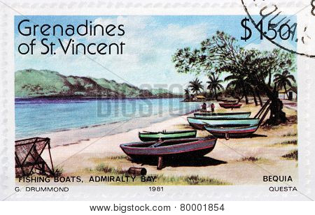 Fishing Boats Stamp